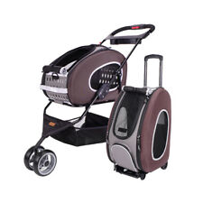 Ibiyaya 5-in-1 Combo EVA Pet Cat or Dog Carrier/Stroller Backpack - Chocolate