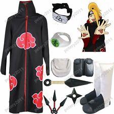 Naruto Akatsuki cloak Deidara Cosplay Costume