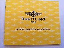 Breitling Chronomat B13352 Guarantee  Booklet