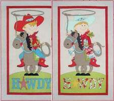 LITTLE COWBOY & COWGIRL QUILT QUILTING PATTERN, Applique By Amy Bradley Designs
