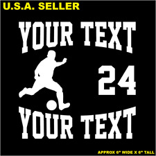 Custom Sport Soccer Decal B10 - Personalized Vinyl Graphic Bumper Sticker