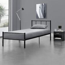 B-WARE Metallbett 90x200 Schwarz Bettgestell Design Bett Schlafzimmer Metall