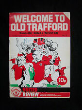 Orig.PRG   England 1.Division  1975/76  MANCHESTER UNITED FC - NORWICH CITY FC !