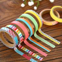 3pcs 5M DIY Paper Sticky Adhesive Sticker Decorative Scrapbooking Washi Tape Set