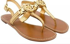 Tory Burch Sandals $225 Cassia Women's Size 9.5 Gold Pre-owned