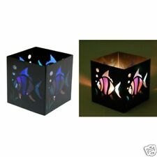 "69014 Square 3"" Tropical Fish Metal Tealight Candle Holder Ocean Animal Aquatic"
