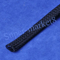 2mm Diameter Expandable Braided Nylon PET Black Sleeving 10M Meter 33.3feet