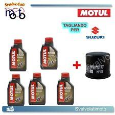 TAGLIANDO FILTRO OLIO + 5LT MOTUL 5100 10W40 SUZUKI VS INTRUDER 1400 2000