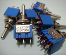 PKG 100, MINI DPDT Toggle Switches - ON ON ON,UL SWITCH