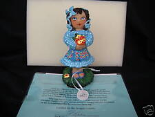 "Tiny Tummies Doll 7"" Figurine Resin By Pat Kolesar Designer Guild Collection New"
