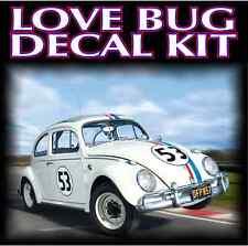 "HERBIE ""LOVE BUG"" vehicle reproduction kit VW w/ extra stripe - LAMINATED"
