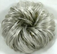 Large Salt & Pepper Curly hair ponytail holder Scrunchie Hairpiece