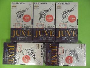 LA GRANDE STORIA DELLA JUVE.1897/1997- 5 VHS- LA STAMPA JUVENTUS