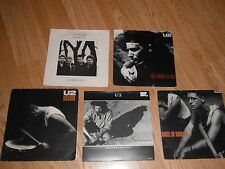 """U2 - COLLECTION OF 5 x 7"""" SINGLES PICTURE SLEEVES EXC"""