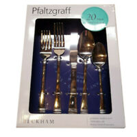 Flatware set  20-Piece Stainless Steel  Service for 4 Pfaltzgraff Beckham - NEW