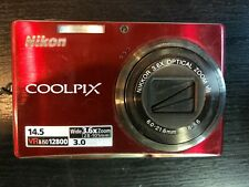 NIKON  COOLPIX S710 14.5MP Digital Camera RED in Box with charger FREE SHIPPING
