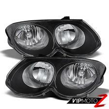 NEW! 1999-2004 Chrysler 300M Black Front COMPLETE SET LH+RH Headlights Assembly