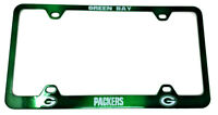 Green Bay Packers License Plate Frame Metal Green NFL
