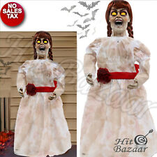 HALLOWEEN DECORATION LIFE SIZE Prop Grim Girl Animated Doll Haunted House Scary