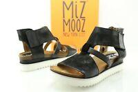 Miz Mooz Samantha Women's US 9.5 10 EU 41 Black Leather Platform Sandals D146