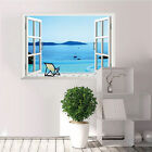 Fashion 3D Window View Removable Landscape Vinyl Wall Sticker Decal Home Decor