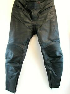 MENS LEATHER RST BIKING TROUSERS UK SIZE 32 EUR 52    #NS#