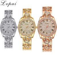 Luxury Women's Girl Crystal Stainless Steel Ladies Quartz Dial Dress Wrist Watch