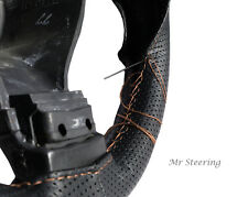 Se adapta a Honda Jazz 2004-2012 De Cuero Perforado cubierta del volante Crema Stitch