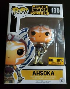 FUNKO POP STAR WARS REBEL AHSOKA #130 HOT TOPIC EXCLUSIVE