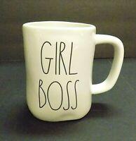 """BRAND NEW"" Rae Dunn ""GIRL BOSS"" Large Letter Coffee Tea Mug By Magenta"