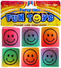 12 Mini Smiley Plastic Springs - Pinata Toy Loot/Party Bag Fillers Wedding/Kids
