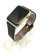 24K Gold Plated 42MM Apple Watch SERIES 2 with Black and Brown Band CUSTOM