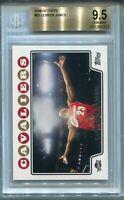 2008-09 Topps #23 LeBron James Graded BGS 9.5 💎GEM MINT💎 - ICONIC CHALK TOSS!