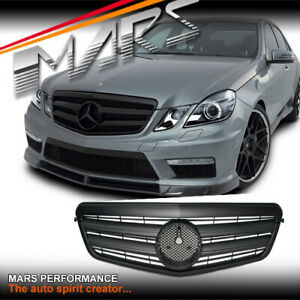 Matt Black AMG Style Bumper GRILLE GRILL for Mercedes-Benz W212 E-Class 09-13