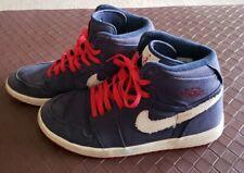 16d376f1cfc194 Nike Air Jordan 1 High Strap 342132-461 Navy Olympic Canvas Mens Size 10.5  Shoes