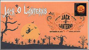 2016,  Jack O Lanterns, Halloween, Pumpkins, Digital Color Postmark, 16-290