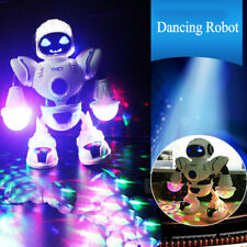 UK LED Light Music Electric Dancing Space Walking Robot Toy for Boys Kids Gift