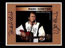 Ingo Koster autografiada mapa original firmado # bc 102052