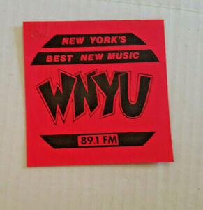 "WNYU 89.1 Bumper Sticker 4"" Vintage New Wave Punk NYU Radio Station 1981"