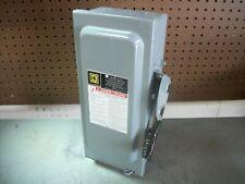 Square D Disconnect Type 1 Hu361 30amp 600volt 3pole Non Fusible Nob