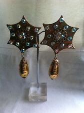 Bijou femme - Boucles d'oreilles pendantes CLIPS - VINTAGE - Hoop-Type Earrings