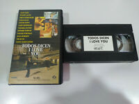 Todos Dicen I Love You Woody Allen - VHS Ingles Subtitulos Ingles - 2T