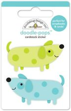 Doodlebug Design Inc. Doodle-Pops Teeny Weenie Dogs Stickers