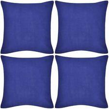 4 fundas para cojines de algodón diferentes colores y tamaños