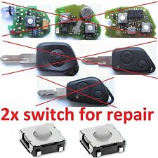 2x MICRO SWITCH BUTTON REMOTE KEY FOB  Peugeot 106 306 406 405 205