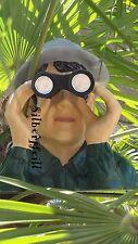 Spanner mit Fernglas Garten Deko Mann Gartenzwerg Garten Jäger Gartenfigur Spion