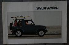 SUZUKI SAMURAI 1988 dealer brochure - French - Canadian Market