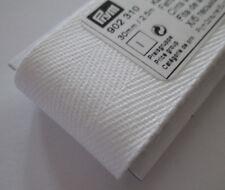 Haushaltsband, Baumwollband, kräftig, weiß, 2,5m Länge, 30mm breit, Prym