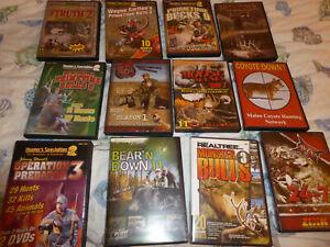 12 DVDs HUNTING ASSORTMENT COYOTE MOOSE TURKEY ELK OPERATION PREDATOR BUCKS 9 +