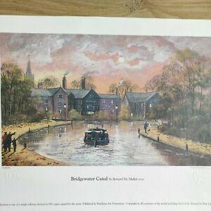 "Bernard McMullen signed print ""Bridgewater Canal""Single edition No.26/850"
